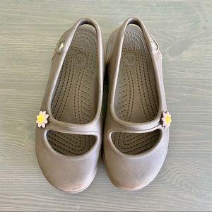 Girls gabby flat brown croc junior size 13